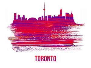 Toronto Skyline Brush Stroke - Red by NaxArt