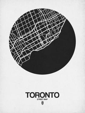 Toronto Street Map Black on White by NaxArt