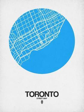 Toronto Street Map Blue by NaxArt
