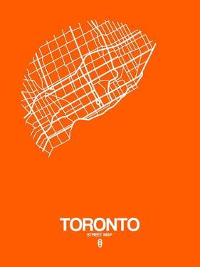 Toronto Street Map Orange by NaxArt