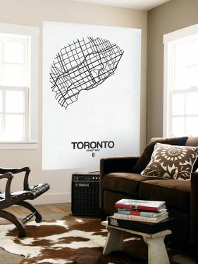Toronto Street Map White by NaxArt