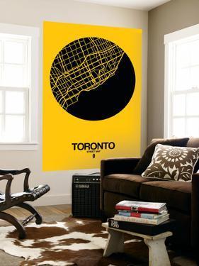 Toronto Street Map Yellow by NaxArt