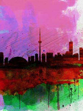 Toronto Watercolor Skyline by NaxArt