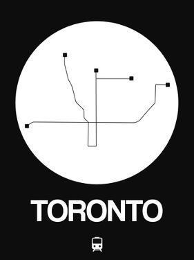 Toronto White Subway Map by NaxArt