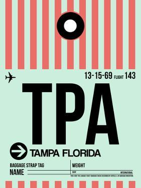 TPA Tampa Luggage Tag 1 by NaxArt