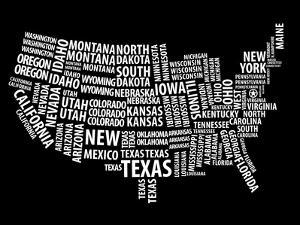 Typography Usa Map by NaxArt