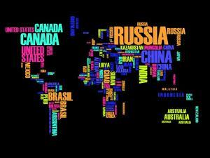 Typography World Map 2 by NaxArt