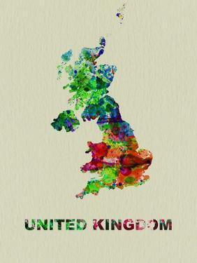 United Kingdom Color Splatter Map by NaxArt