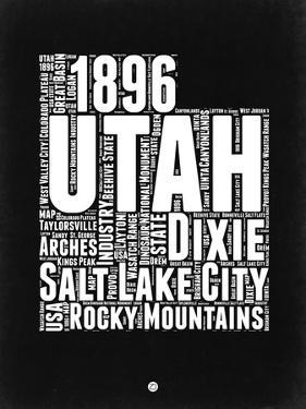 Utah Black and White Map by NaxArt