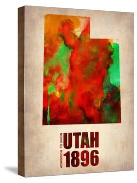 Utah Watercolor Map by NaxArt