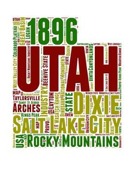 Utah Word Cloud Map by NaxArt