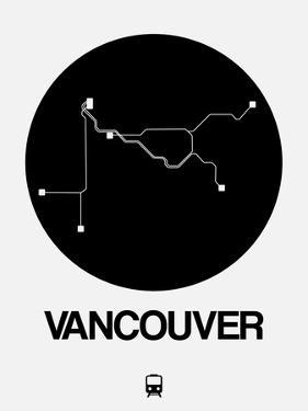 Vancouver Black Subway Map by NaxArt