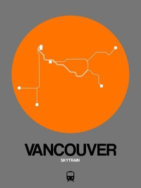 Vancouver Orange Subway Map by NaxArt