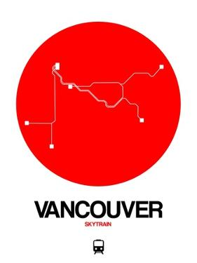 Vancouver Red Subway Map by NaxArt