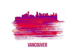 Vancouver Skyline Brush Stroke - Red by NaxArt