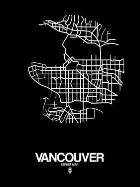 Vancouver Street Map Black by NaxArt