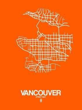 Vancouver Street Map Orange by NaxArt