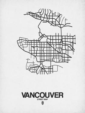 Vancouver Street Map White by NaxArt