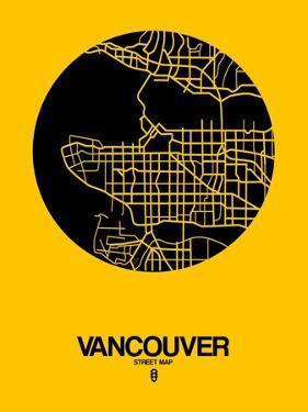 Vancouver Street Map Yellow by NaxArt