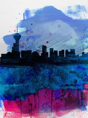 Vancouver Watercolor Skyline by NaxArt