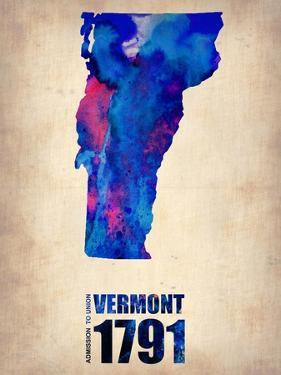 Vermont Watercolor Map by NaxArt
