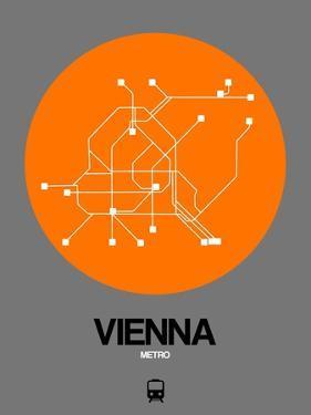 Vienna Orange Subway Map by NaxArt