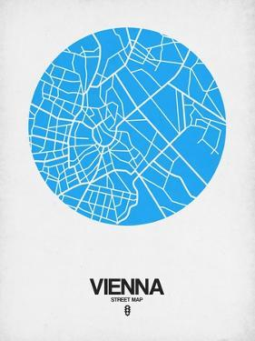 Vienna Street Map Blue by NaxArt