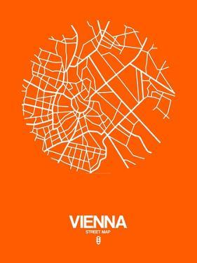 Vienna Street Map Orange by NaxArt