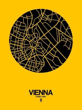 Vienna Street Map Yellow by NaxArt
