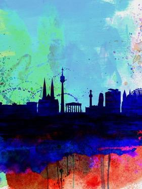 Vienna Watercolor Skyline by NaxArt