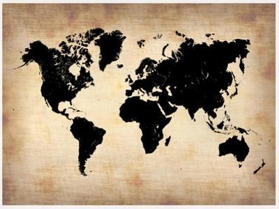 Vintage World Map by NaxArt
