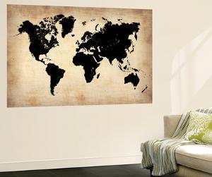 Vintage World Map by NaxArt