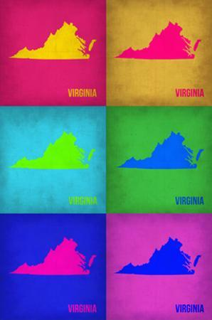 Virginia Pop Art Map 1 by NaxArt