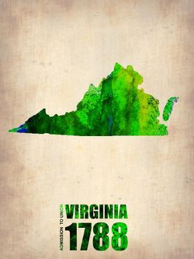 Virginia Watercolor Map by NaxArt