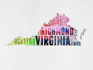 Virginia Watercolor Word Cloud by NaxArt