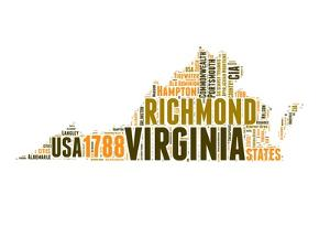 Virginia Word Cloud Map by NaxArt