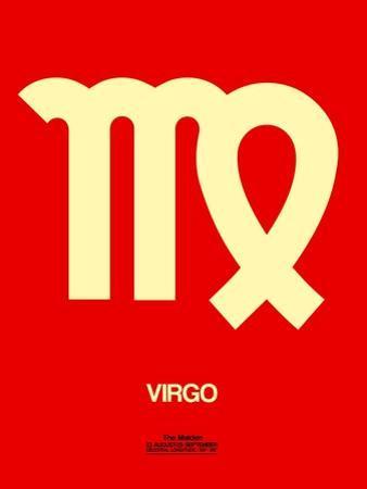 Virgo Zodiac Sign Yellow by NaxArt