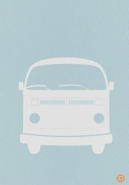 VW Bus Blue Poster by NaxArt