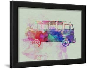 VW Bus Watercolor by NaxArt
