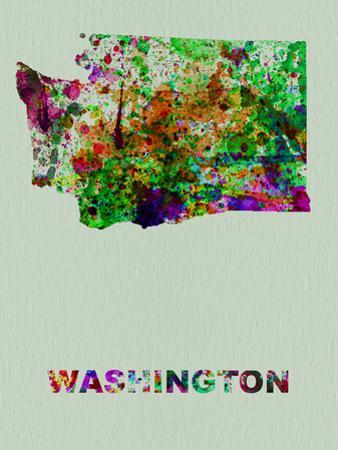 Washington Color Splatter Map by NaxArt