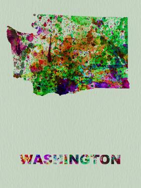 Washington Color Splatter Map by NaxArt