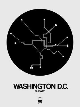 Washington D.C. Black Subway Map by NaxArt