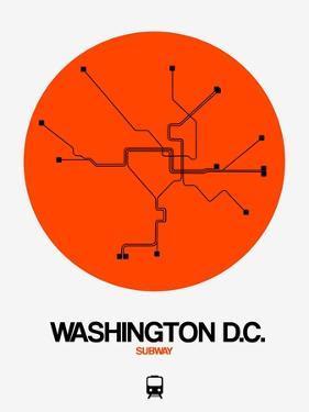 Washington D.C. Orange Subway Map by NaxArt