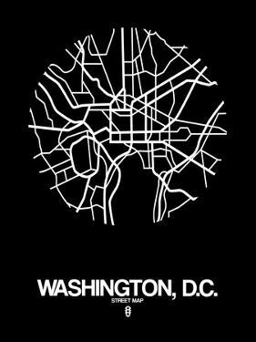 Washington, D.C. Street Map Black by NaxArt