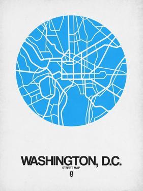 Washington, D.C. Street Map Blue by NaxArt