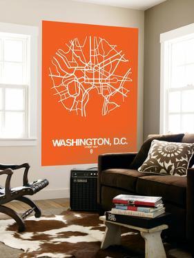Washington, D.C. Street Map Orange by NaxArt