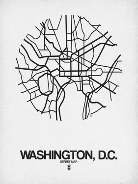 Washington, D.C. Street Map White by NaxArt