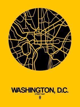 Washington, D.C. Street Map Yellow by NaxArt