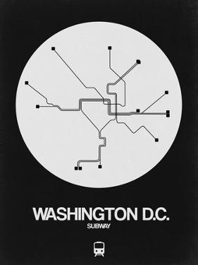 Washington D.C. White Subway Map by NaxArt
