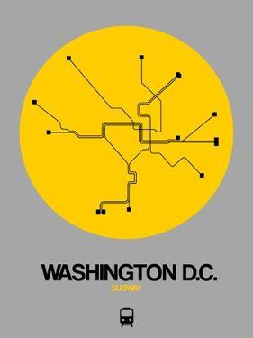 Washington D.C. Yellow Subway Map by NaxArt